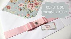 Convite de Casamento Envelope Estampado, Tag e Laço Chanel - Faça Você M...