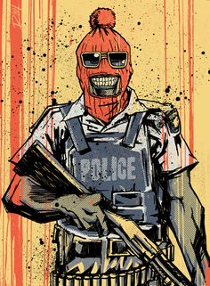 Sindiso Nyoni also known as R!OT is a Zimbabwean born artist based in South Africa and is well-known for his politically-inspired illustrations. Have a look at some of his previous work, here. This, his latest piece, was made in reaction to the recent Lonmin shootings. Just like the opinions surrounding the event, Sindiso says that the response to the illustration has been mixed.