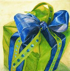"""All Wrapped Up"" original fine art by Kara K. Bigda"
