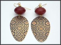 ARABESQUE  Handforged Embossed Antiqued by sandrawebsterjewelry, $35.00