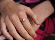 Natürliche in 14k Handarbeit  morganite Ring Rotgold.  Schöne und einfache Ring mit kleines Herz im Rücken macht perfekten Verlobungsring , Jahrestag Ring oder ein Geschenk große Momente in Ihrem...