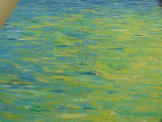 #tableau #acrylique eau avec reflet by Elize http://www.pigmentropie.fr/2015/11/etait-petit-navire/