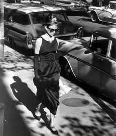 Holly Golightly in opening scene of Breakfast at Tiffany's