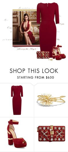 """no.241"" by nina-k-307 ❤ liked on Polyvore featuring Roland Mouret, David Yurman, Charlotte Olympia and Dolce&Gabbana"