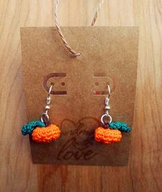 Get this free crochet pattern for adorable tiny pumpkin earrings at Crochet Cauldron. These are great for Halloween, Thanksgiving or Fall in general!