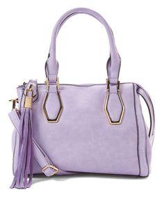 Another great find on #zulily! Lavender Tassel Satchel #zulilyfinds