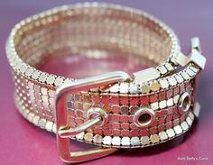 Retro belt buckle bracelet, Gift for her,Coworker gift,Rose gold,birthday gift,14kt gold filled,bracelets to gift,Friendship bracelet,copper by AuntBettysCurio on Etsy