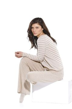 Cashmere's cashmere sweater and pants.
