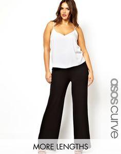 Pantalones con pernera ancha de ASOS CURVE