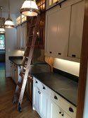 The back kitchen. Vintage influenced details. Design by Jamie Linn, constructed by Veranda Designer Homes.