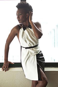 Nalisa dress Nemra C. Montreal, Vegan Leather, Peplum Dress, Bows, Elegant, Beautiful, Dresses, Style, Fashion