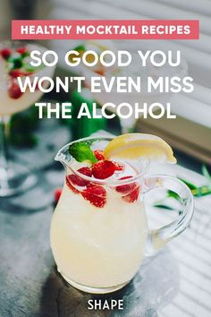 Try these mocktail recipes for a delicious drink without the hangover. You won't even miss the alcohol. Best Mocktail Recipe, Easy Mocktail Recipes, Drink Recipes, Low Calorie Cocktails, Non Alcoholic Cocktails, Best Mocktails, Yummy Drinks, Healthy Drinks, Healthy Eating