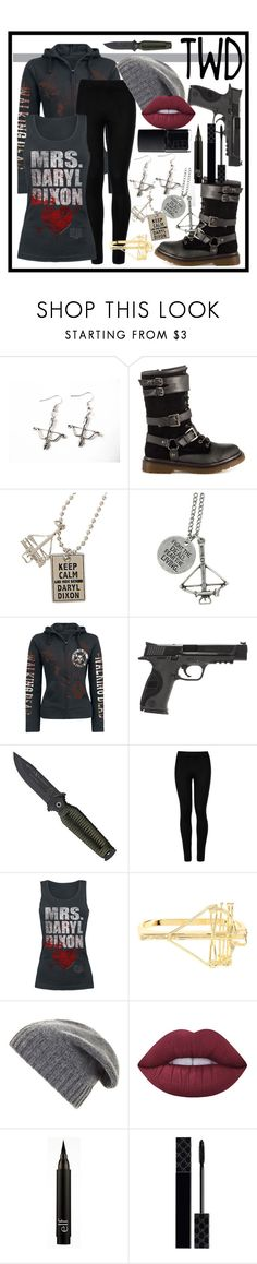 """The Walking Dead Inspired <3"" by xxkaitlyn on Polyvore featuring Bow & Arrow, Penny Loves Kenny, Hot Topic, Smith & Wesson, Wolford, BCBGMAXAZRIA, Lime Crime, Gucci, NARS Cosmetics and thewalkingdead"