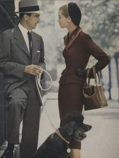 People dressed so wonderfully in the 40's!  I love both of their looks.