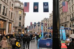 Our flags from the NFL UK fan rally