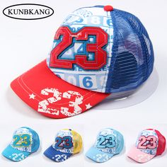 a000817a5c7 High Quality Kids Boys Cotton Hat Letter 23 Mesh Baseball Cap For Baby  Girls Children Summer Hip Hop Caps Graffiti Snapback Hats-in Hats   Caps  from Mother ...