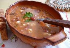 Jókai bableves ahogy Fahéj készíti Hungarian Recipes, Goulash, Cheeseburger Chowder, Soups, Life, Soup, Chowder