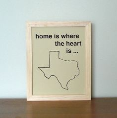 my heart is in texas-- love the idea to put a heart symbol on the area that you identify with