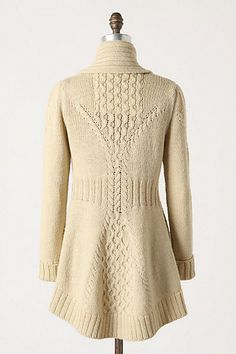 Blanched and Buckled cardigan, back