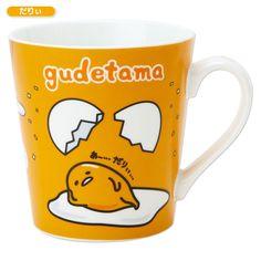 Gudetama Mug Cup Daryi SANRIO JAPAN Kawaii Cute Hello Kitty My Melody F/S New