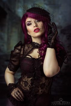 Model: La Esmeralda Photo: Silver Pearl Photography Blouse:Punkrave/gloves: Restyle from The Gothic Shop Hat: Jazzafine. pieces full of verve Welcome to Gothic and Amazing |www.gothicandamazing.com