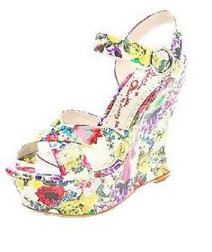 Shine in summer fashions   Alice + Olivia platform wedges