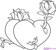 draw drawings hearts valentine drawing heart easy step cool coloring valentines cliparts flowers pages cards roses animals flower draws disney