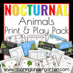 Nocturnal Animals Print and Play Pack