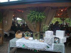 friends wedding decor, gift table