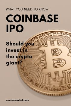 The Coinbase IPO is taking place on April 14 using the ticker COIN on the Nasdaq. Should you invest in this crypto giant? Here's all you need to know... Become A Millionaire, April 14, Money Quotes, Investing Money, Debt Payoff, Personal Finance, Need To Know, How To Become, Coins