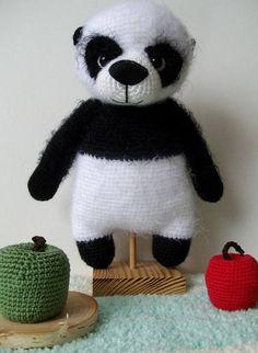 Items similar to Mr Panda Bear/Cute fluffy crochet bear/Stuffed Toy Bear/Bear Toy handmade by WoolyaBears/READY TO SHIP on Etsy Panda Love, Panda Bear, Children, Kids, I Shop, Fiber, Environment, Delicate, Teddy Bear
