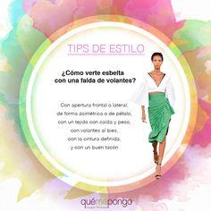 Hoy los primeros tips de estilo… relacionados con las faldas de volantes ¿Os gustan?  ¿Queréis que os hablaremos de algo en especial?  Nos gustaría saber vuestra opinión.  ¡¡Os esperamos!!    #qmp #quemepongo #tipsdeestilo #tips #estilo #moda #falda #volantes #tendencia2017 #tendenciavolantes #tendencias #outfits #comomelopongo