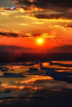 One of the Wonders of the World presently. We arrange tours to Pamukkale, Turkey--white calcified pools under the ancient healing spa of Hiliopolis. Pamukkale, Foto Nature, All Nature, Beautiful Sunset, Beautiful World, Beautiful Places, Magic Places, Places To Go, Amazing Sunsets