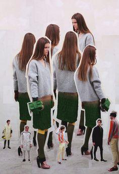 Kasia Struss in the Prada Real Fantasies Fall/Winter 2007 lookbook.
