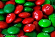 Red and Green M&M;'s