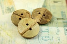 Bamboo Buttons - 10 pieces of Original Bamboo Joint 2 Holes Buttons, 0.91 inch by Lyanwood, $6.00