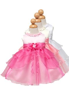 420aff3f15f9 KID Collection Baby Girls Ruffle Tiered Dress Med Pink Fuchsia Kid Check  website for more description.