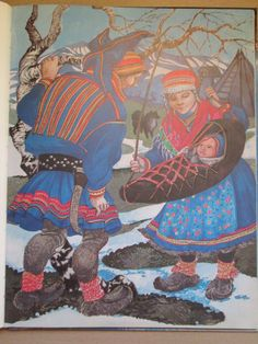 Lappland, Arctic Circle, My People, Finland, Reindeer, Norway, Nativity, Folk Art, Native American