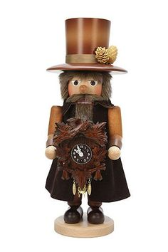 German Christmas Nutcracker Blackforest Clockmaker natural colors 415 cm 16 inch Christian Ulbricht ** This is an Amazon Affiliate link. See this great product.