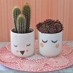 cache-pot Visage fille design Bloomingville - deco-graphic.com