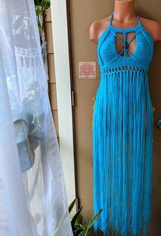 15b94eb3140 The Butterfly Fringe crochet Bralette in Sky blue