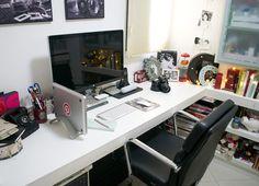Living visita: a penteadeira e o home office da beauty blogger Cinthia Ferreira - Living Gazette