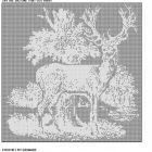 294 The big one that got away deer filet crochet doily afghan pattern Crochet Curtain Pattern, Crochet Patterns Filet, Cross Stitch Sampler Patterns, Crochet Curtains, Cross Stitch Samplers, Crochet Tablecloth, Crochet Doilies, Beading Patterns, Crochet Ideas