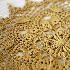 """Brianna 💛 doily is available in my store 💛\n\nThe pattern is coming soon ☺️"""
