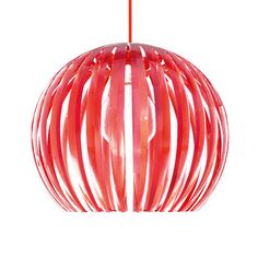 Colors2 Pendant Lamp Red L by Michael Waltersdorff