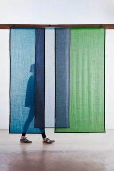 Tinctorial Textiles by Raw Color. Tinctorial Textiles is a new step in the research on natural pigment. Having mainly experimented with vegetable dyes in Raw Color, London Design Festival, Textiles, Panel Curtains, Curtain Panels, Noren Curtains, Fabric Panels, Color Blending, Backdrops