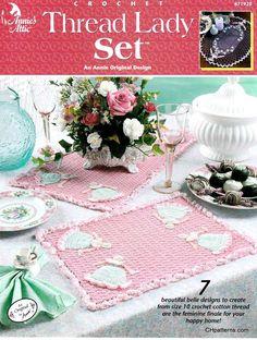 7 designs thread lady set crochet pattern annie potter crochet cotton thread pattern