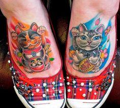 10 PURRR-FECT LUCKY CAT TATTOOS | HelpShares