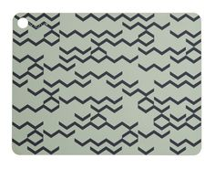 PLACEMAT - LIGHT GREEN WITH PRINT