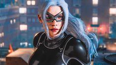 Black Cat Marvel, Spiderman Black Cat, Amazing Spiderman, Dc Comics Heroes, Marvel Dc Comics, Marvel Comic Character, Marvel Characters, Spider Gwen Cosplay, Hq Marvel